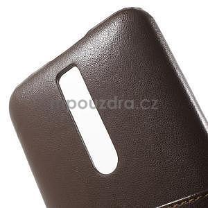 Hnědý PU kožený/plastový kryt na Asus Zenfone 2 ZE551ML - 6