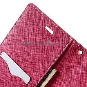 Zapínací PU kožené pouzdro na Asus Zenfone 2 ZE551ML - růžové - 6