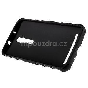 Vysoce odolný gelový kryt se stojánkem pro Asus Zenfone 2 ZE551ML - černý - 6
