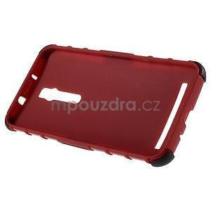 Vysoce odolný gelový kryt se stojánkem pro Asus Zenefone 2 ZE551ML - červený - 6