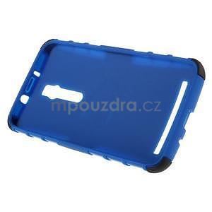 Vysoce odolný gelový kryt se stojánkem pro Asus Zenefone 2 ZE551ML - modrý - 6