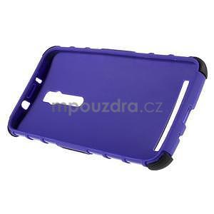 Vysoce odolný gelový kryt se stojánkem pro Asus Zenfone 2 ZE551ML - fialový - 6