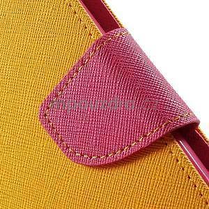 Zapínací PU kožené pouzdro na Asus Zenfone 2 ZE551ML - žluté - 6