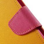 Zapínací PU kožené pouzdro na Asus Zenfone 2 ZE551ML - žluté - 6/6