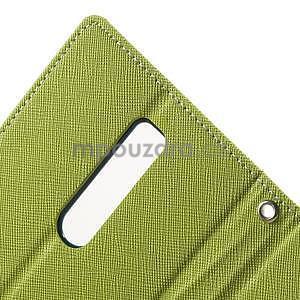 Zapínací PU kožené pouzdro na Asus Zenfone 2 ZE551ML - zelené - 6