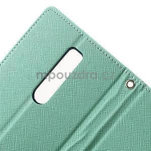 Zapínací PU kožené pouzdro na Asus Zenfone 2 ZE551ML - azurové - 6