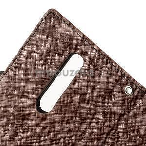 Zapínací PU kožené pouzdro na Asus Zenfone 2 ZE551ML - hnědé - 6