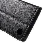 Peněženkové PU kožené pouzdro na HTC Desire 530 a Desire 630 - černé - 6/6