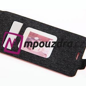 Flipové PU kožené puzdro pre mobil HTC One A9s - červené - 6