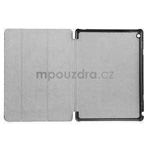 Trifold polohovatelné PU kožené pouzdro na Huawei MediaPad M3 Lite 10 - světlemodré - 6