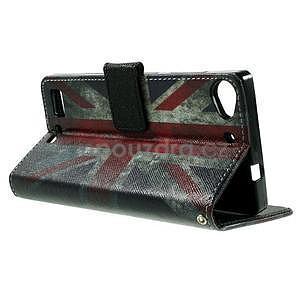 Peněženkové PU kožené pouzdro Lenovo Vibe X2 - UK vlajka - 6