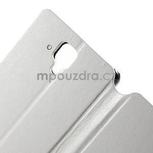 Peněženkové PU kožené pouzdro na Lenovo A536 - bílé - 6