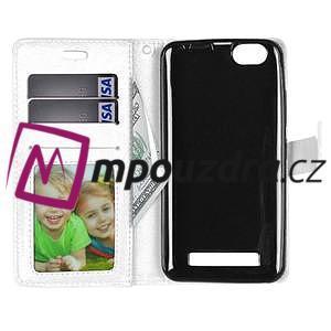 Fashion PU kožené pouzdro na mobil Lenovo Vibe C A2020 - bílé - 6