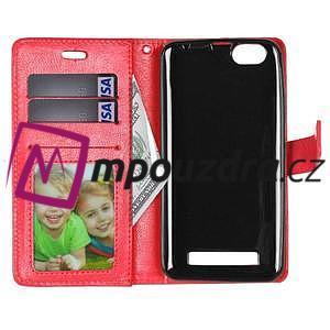 Fashion PU kožené pouzdro na mobil Lenovo Vibe C A2020 - červené - 6