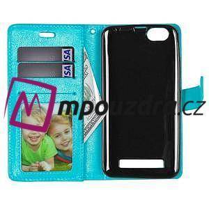 Fashion PU kožené pouzdro na mobil Lenovo Vibe C A2020 - modré - 6