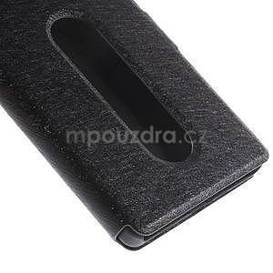 PU kožený obal s okýnky na Lenovo Vibe X2 - černý - 6