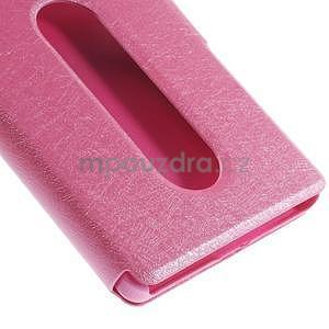 PU kožený obal s okýnky na Lenovo Vibe X2 - rose - 6