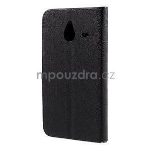 PU kožené pouzdro na Micosoft Lumia 640 XL - černé - 6
