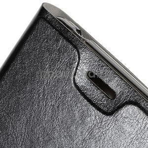 Peněženkové PU kožené pouzdro na Microsoft Lumia 640 XL - černé - 6