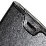 Peněženkové PU kožené pouzdro na Microsoft Lumia 640 XL - černé - 6/7