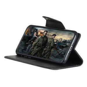Wall PU kožené pouzdro na Motorola Moto G6 Play - černé - 6
