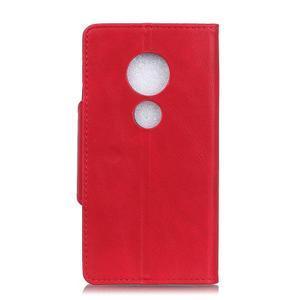 Wall PU kožené pouzdro na Motorola Moto G6 Play - červené - 6