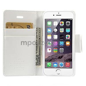 Peněženkové koženkové pouzdro na iPhone 5s a iPhone 5 - bílé - 6