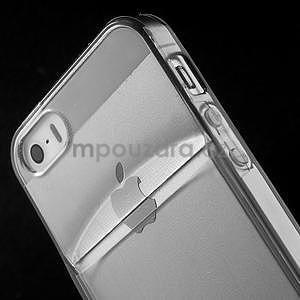 Ultra tenký obal s kapsičkou pro iPhone 5 a 5s - šedý - 6