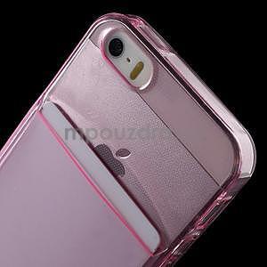 Ultra tenký obal s kapsičkou pro iPhone 5 a 5s - rose - 6