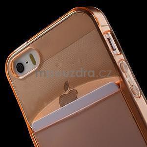 Ultra tenký obal s kapsičkou pro iPhone 5 a 5s - oranžový - 6