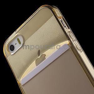 Ultra tenký obal s kapsičkou pro iPhone 5 a 5s - champagne - 6