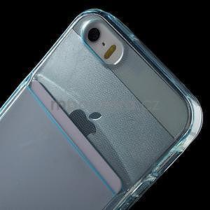 Ultra tenký obal s kapsičkou pro iPhone 5 a 5s - modrý - 6