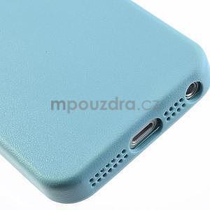 Gelový obal s texturou na iPhone 5 a 5s - modrý - 6