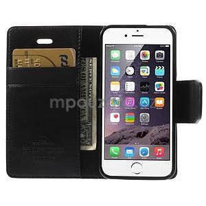 Černé koženkové peněženkové pouzdro na iPhone 5s a iPhone 5 - 6