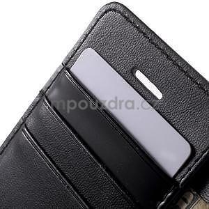 Peněženkové koženkové pouzdro na iPhone 5 a iPhone 5s - černé - 6