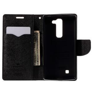 Diary PU kožené pouzdro na LG G4c - černé - 6
