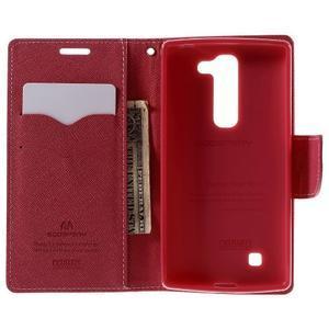 Diary PU kožené pouzdro na LG G4c - růžové - 6
