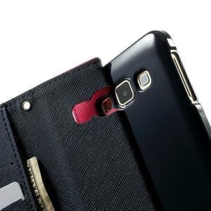 Diary PU kožené pouzdro na Samsung Galaxy A3 - rose - 6