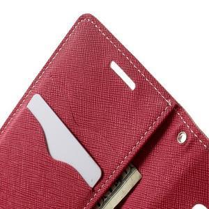 Diary PU kožené pouzdro na Samsung Galaxy A3 - růžové - 6