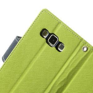 Diary PU kožené pouzdro na Samsung Galaxy A3 - zelené - 6