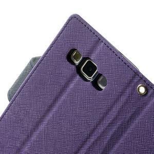 Diary PU kožené pouzdro na Samsung Galaxy A3 - fialové - 6