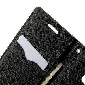 Diary PU kožené pouzdro na Samsung Galaxy A3 - hnědé - 6