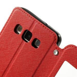Roar peněženkové pouzdro s okýnkem na Samsung Galaxy A3 - červené - 6