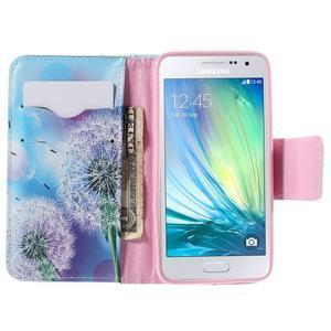 Peněženkové pouzdro na Samsung Galaxy A3 - odkvetlá pampeliška - 6