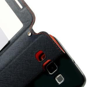 Roar peněženkové pouzdro s okýnkem na Samsung Galaxy A3 - oranžové - 6