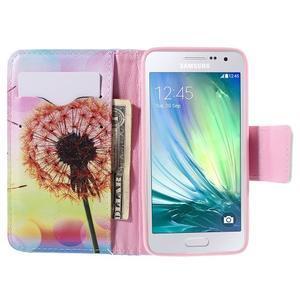 Peněženkové pouzdro na Samsung Galaxy A3 - oranžová pampeliška - 6