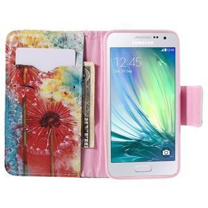 Peněženkové pouzdro na Samsung Galaxy A3 - malované pampelišky - 6