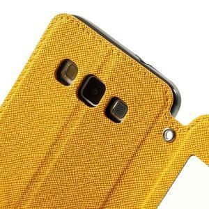 Roar peněženkové pouzdro s okýnkem na Samsung Galaxy A3 - žluté - 6