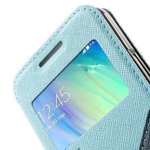 Roar peněženkové pouzdro s okýnkem na Samsung Galaxy A3 - světlemodré - 6