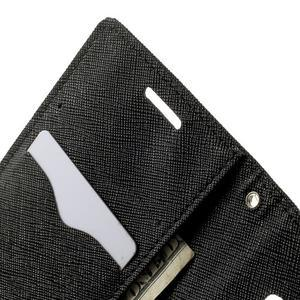 Diary PU kožené pouzdro na Samsung Galaxy A3 - černé - 6